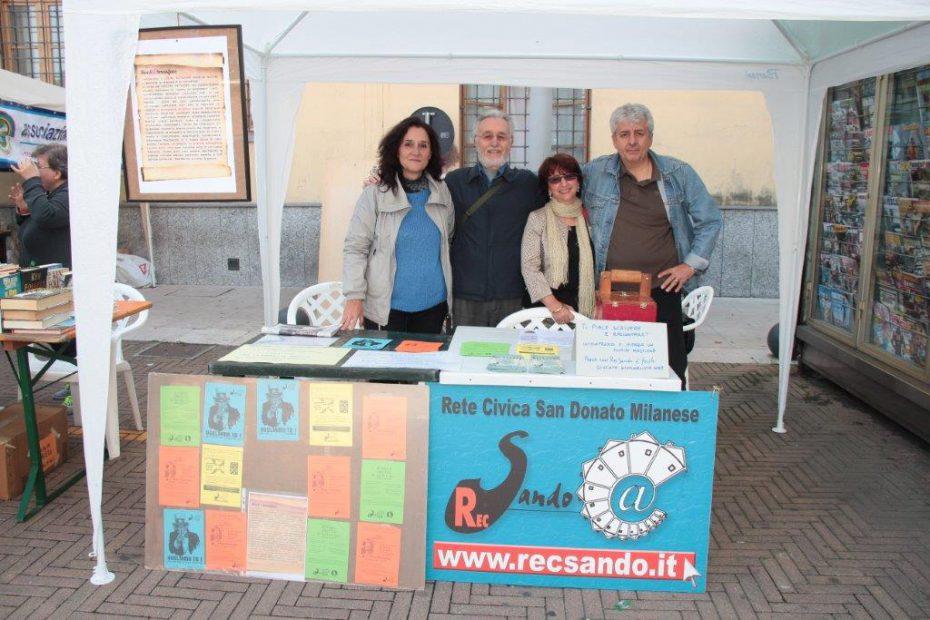 RecSando - The Local Network, alla festa del patrono a San Giuliano Milanese in Piazza della Vittoria