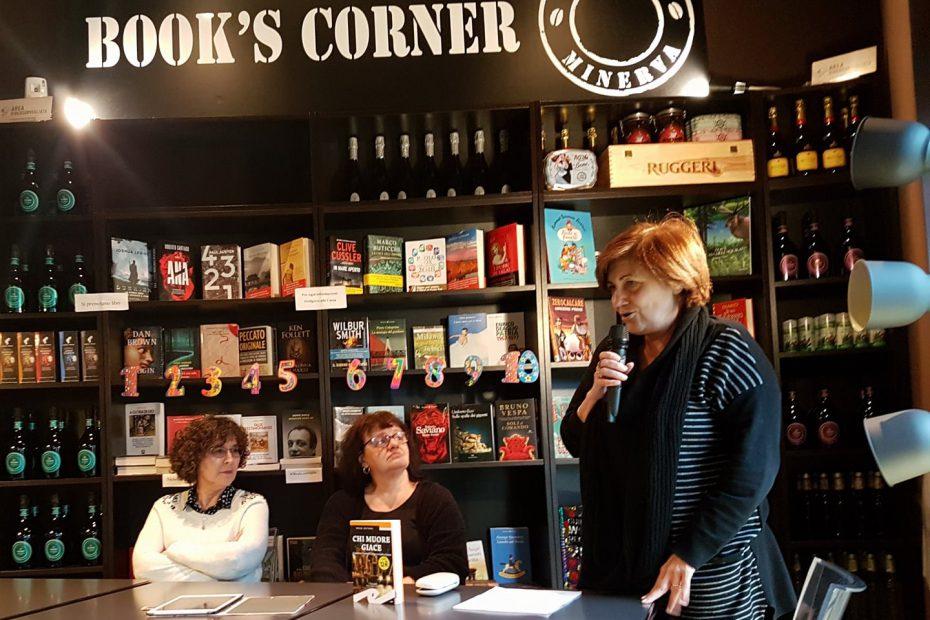 Marina Bertamoni - Chi Muore Giace, intervista del Circolo Letterario 6x4 al #BikePoint Caffè Minerva di San Donato Milanese