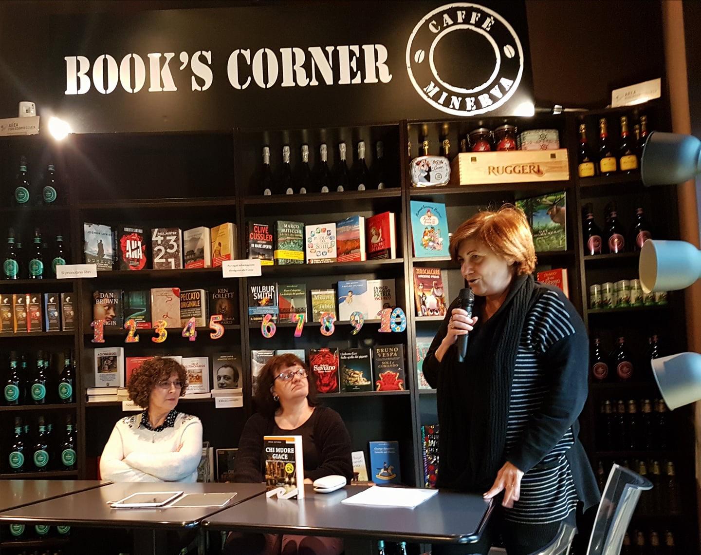 Marina Bertamoni – Chi Muore Giace, intervista del Circolo Letterario 6×4 al #BikePoint Caffè Minerva di San Donato Milanese
