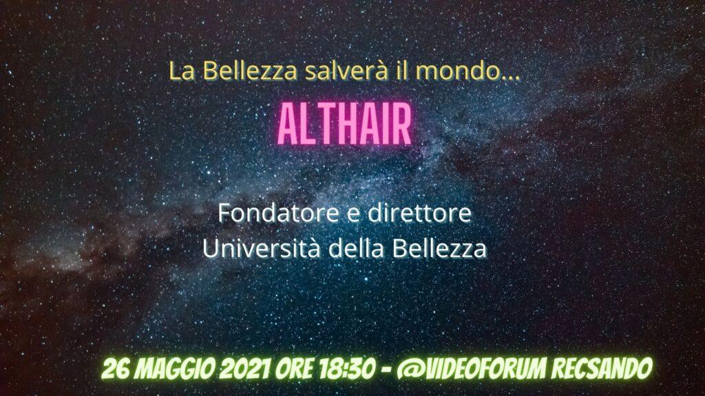 Università della Bellezza, Althair