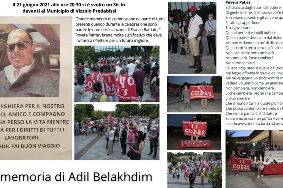 In memoria di Adil Belakhdim