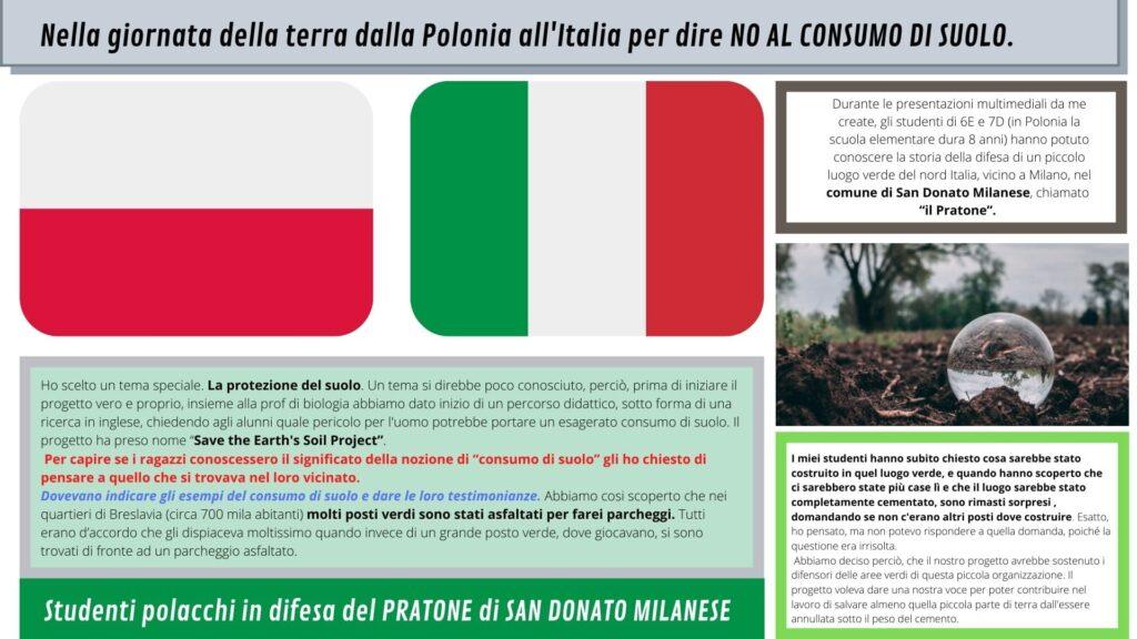 ITALIA POLONIA studenti in difesa del Pratone