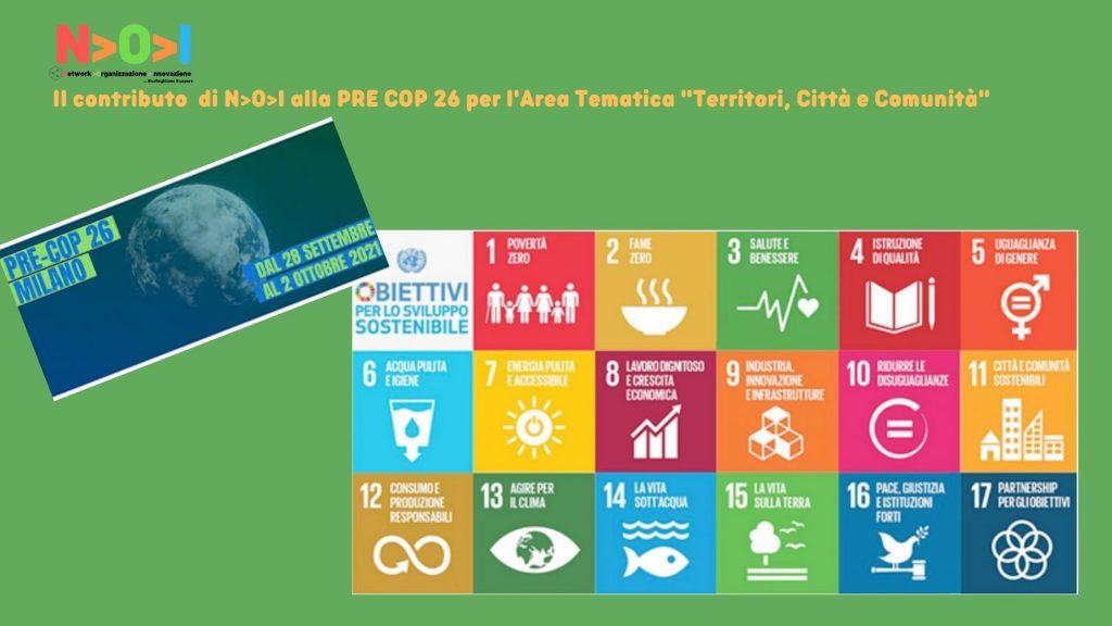 Il contributo di NOI alla PRE COP 26 per l'Area Tematica Territori, Città e Comunità