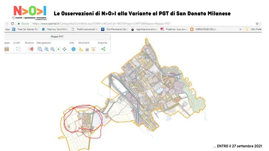 Le Osservazioni di NOI alla Variante al PGT di San Donato Milanese